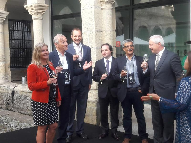 Produtores de vinho da Morávia no festival UVVA de Amarante